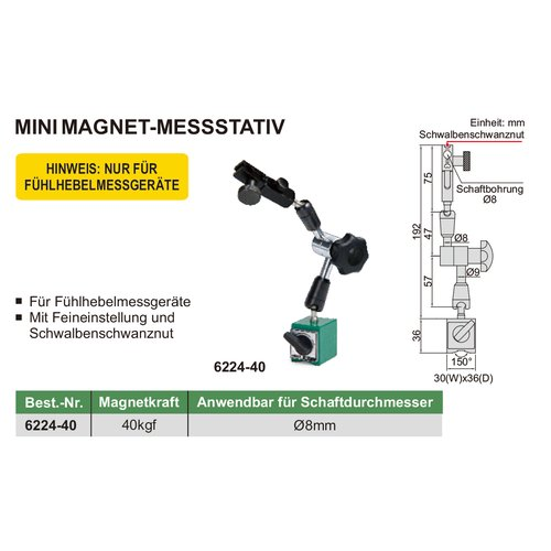 Mini Magnet-Messstativ