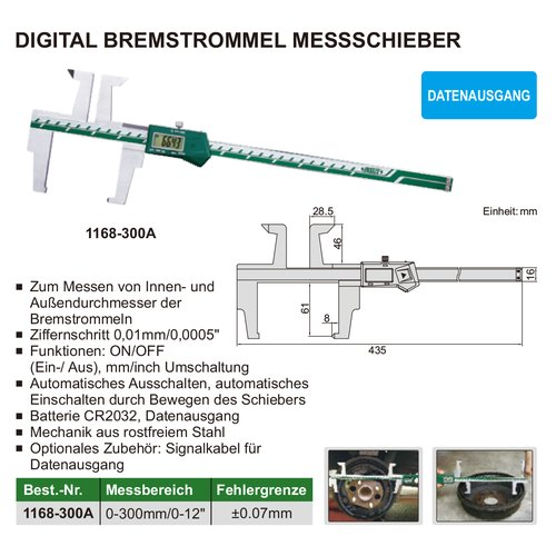 Digital Bremstrommel Messschieber